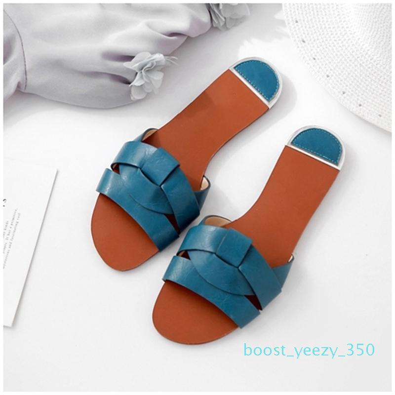 Mulheres chinelos de couro slides elegantes sapatos Summer Beach Sandals mocassim Casual Sandálias macia Flops Moda Footwear Ladies b35