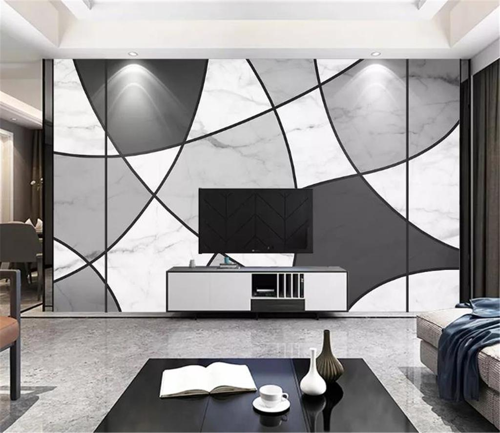 3d Digital Print Wallpaper Black And White Line Marble Texture Home Decor Living Room Wall Covering Wall Paper Wallpapers And Screensavers Wallpapers