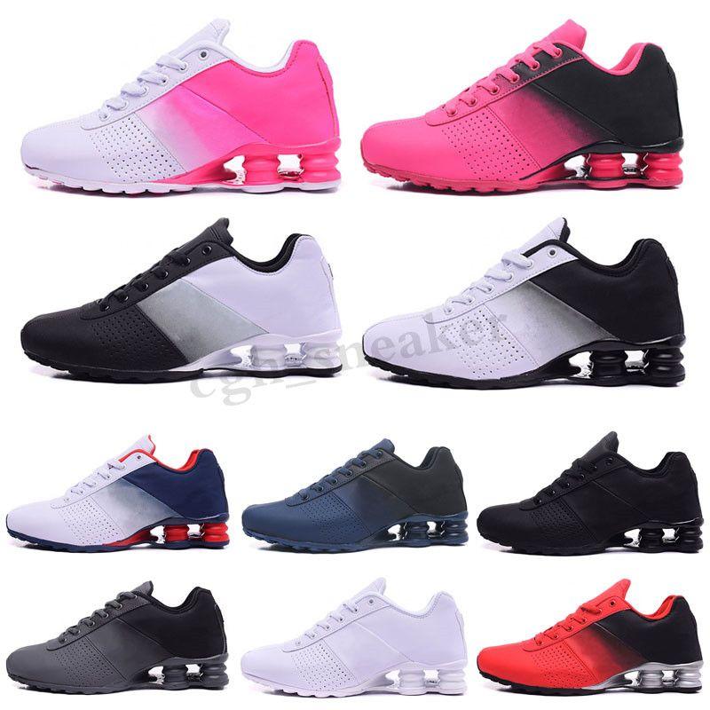 NIKE 0SHOX Avenue 802 2019 yeni erkek cadde 802 turb siyah beyaz kırmızı adam tenis ayakkabısı erkek spor tasarımcıları spor ayakkabılarını boyutu 40-46 SICAK SATIŞ WR03 çalışan