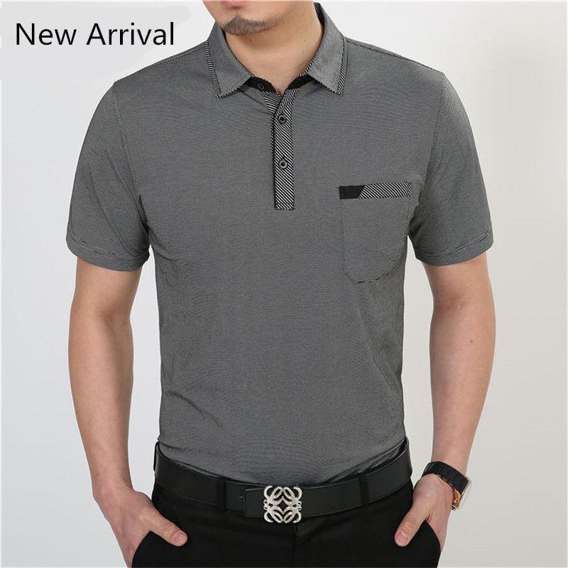 Design Short Sleeve T Shirt Cotton Clothing Men T -Shirt with Pocket Casual Dress Factory Wholesale Plus Size