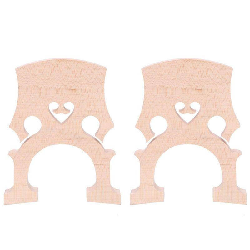 2 Stück 3/4 4/4 Regulated Kontrabaß Kontrabaß Brücke Maple Ersatzteile Cello Diy Musikinstrumente Zubehör