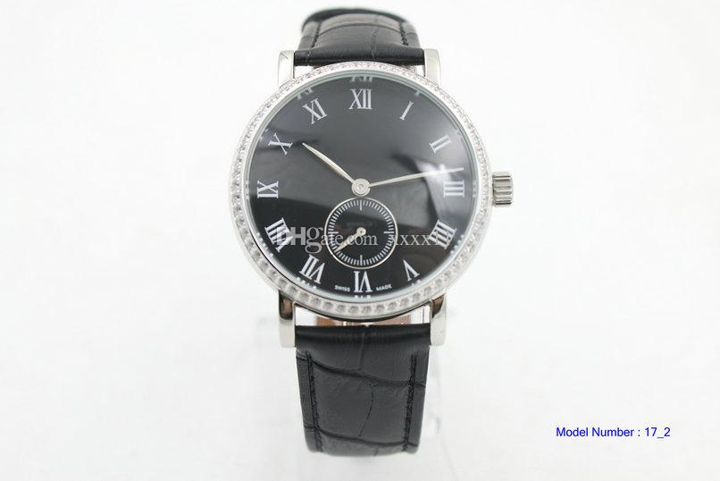 Mens Automatic Watch black Dial IW545407 Leather Men Watches Power Reserve Swiss Date Wristwatche