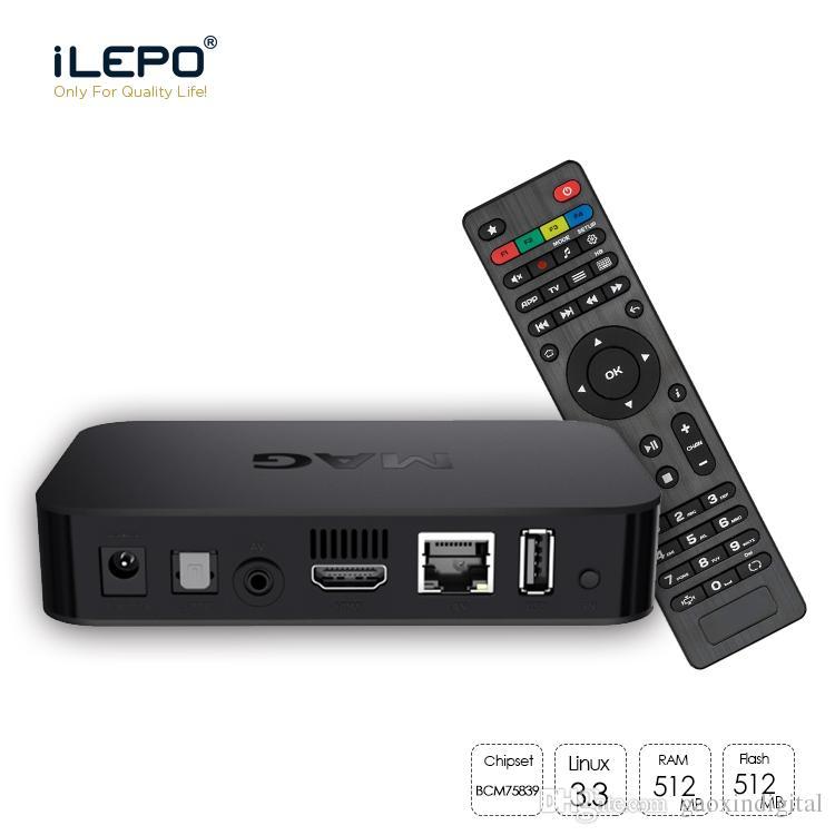 MAG 322 2019 Nouvelle arrivée Dernières Linux 3.3 OS Set Top Box WiFi intégré WLAN HEVC H.265 Smart TV Media Player