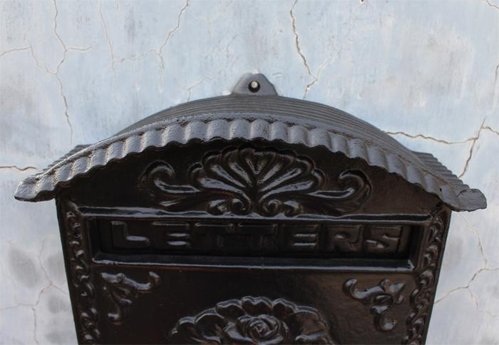 Yard Patio Çim Bahçe Açık Home için Alüminyum Posta Kutusu Postbox Kabartmalı Trim Dekoratif Metal Duvar Posta Gönder Mektupları Box Cast