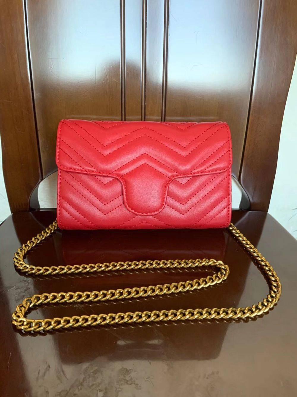 حار بيع 2020Marmont حقائب الكتف المرأة سلسلة CROSSBODY حقيبة اليد الشهيرة مصمم الكتف حقيبة أنثى رسالة حقيبة محفظة محفظة wome0389