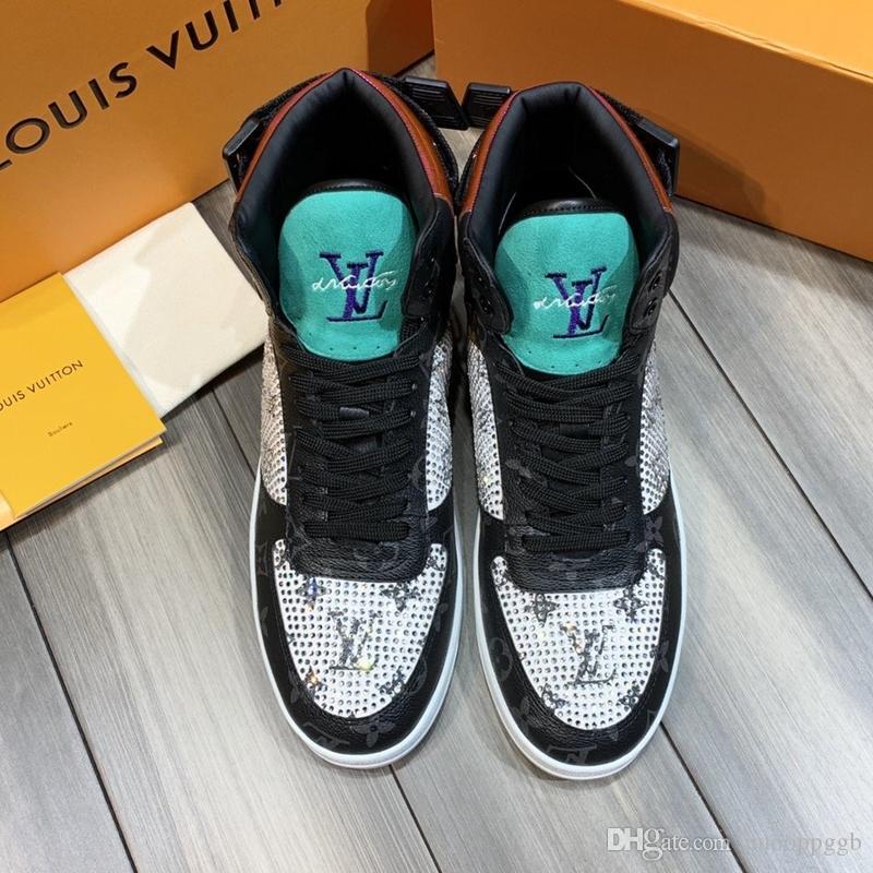2020WU nouvelles chaussures pour hommes de créateurs de mode casual, chaussures de sport haut hommes de concepteur de luxe dans la boîte d'origine, la taille de livraison rapide 38-45