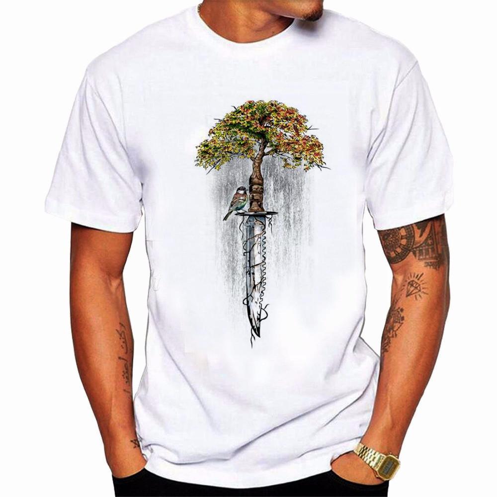 2019 neues kreatives Leben Zurück zum Leben Druck-Trend für Herren Kurzarm-T-Shirt für Herren Kurzarm-T-Shirt für Herren