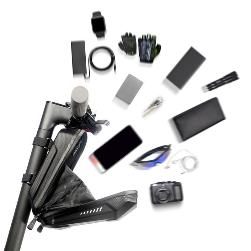 Sacchetto della bici anteriore della bicicletta del sacchetto di immagazzinaggio del manubrio telefono cellulare per il motorino elettrico pieghevole Capacità Impermeabile Accessori ciclismo