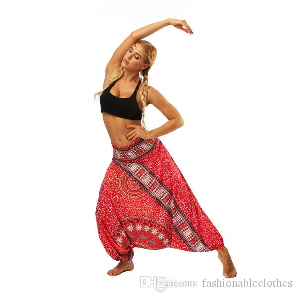 new Women's Wear Indonesian National Style Digital Printed Cotton Belly Dance Yoga Pants with Loose Legs