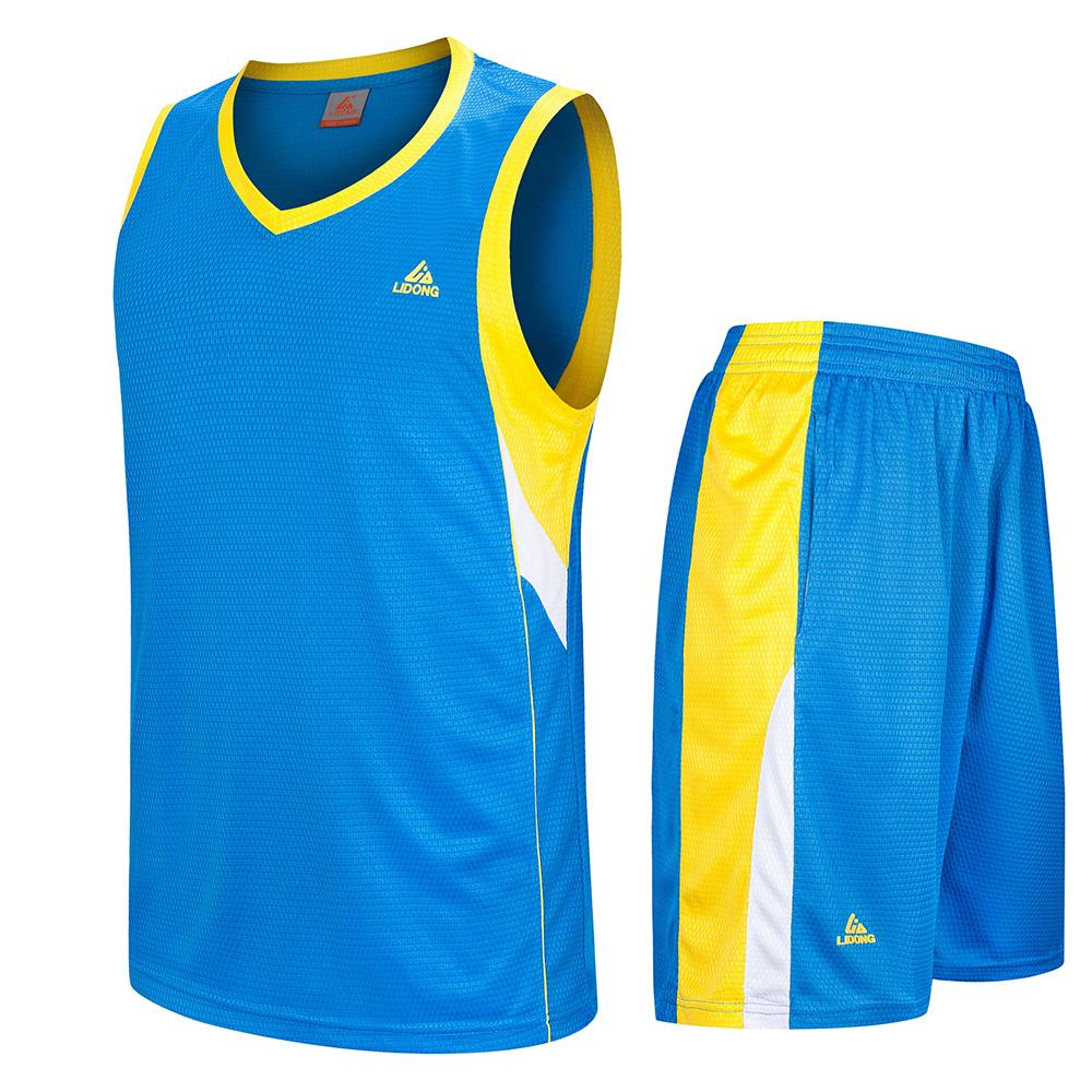 LIDONG Kids Basketball Jersey Sets Uniforms kits Child Boys Girls Sports clothing Breathable Youth basketball jerseys shorts C18122501