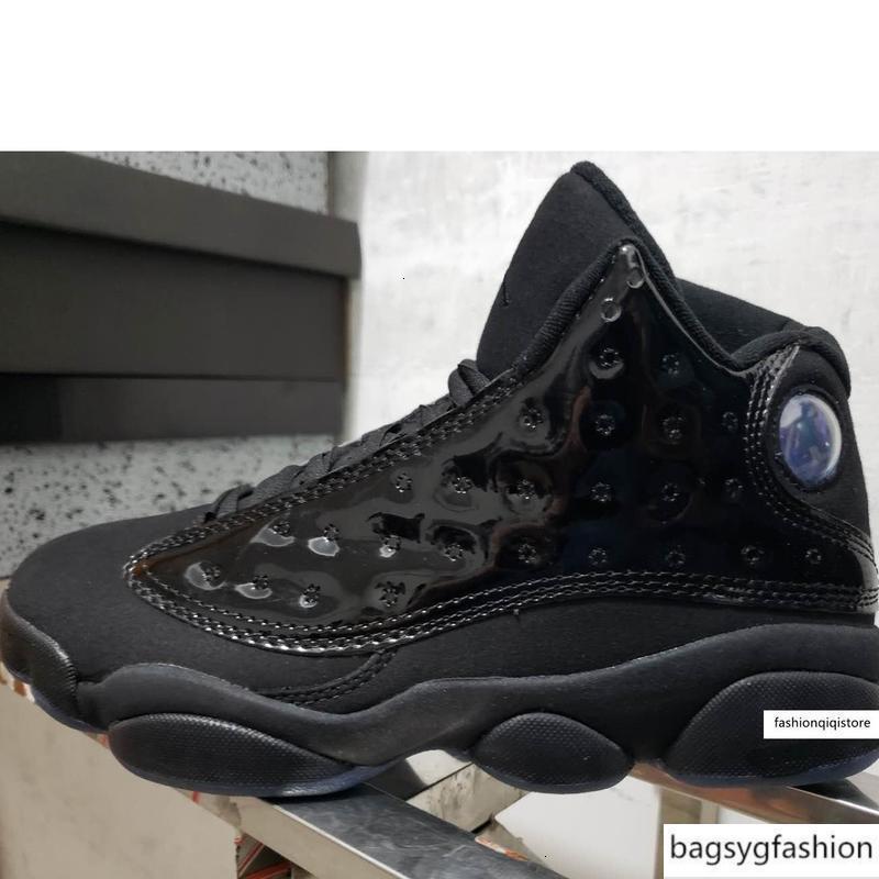 kutusuyla hava uçaklarınızın Retro spor ayakkabıları botlar aj13 Ucuz erkek Jumpman AJ 13s basketbol ayakkabıları J13 üçlü siyah patentli mavi sarı Altın Kırmızı çocuklar