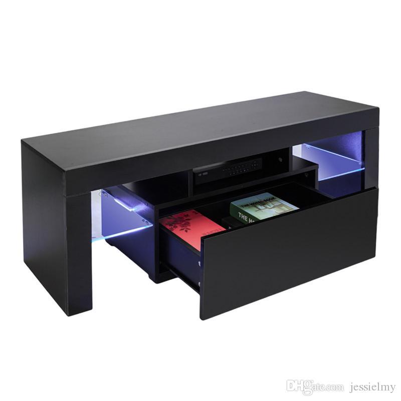 Acheter Tv Led Elegante Haute Brillance Cabinet Clair Avec Etageres Simple Tiroir Moderne Meubles Tv Console Tv Entertainment Centre Durable Table