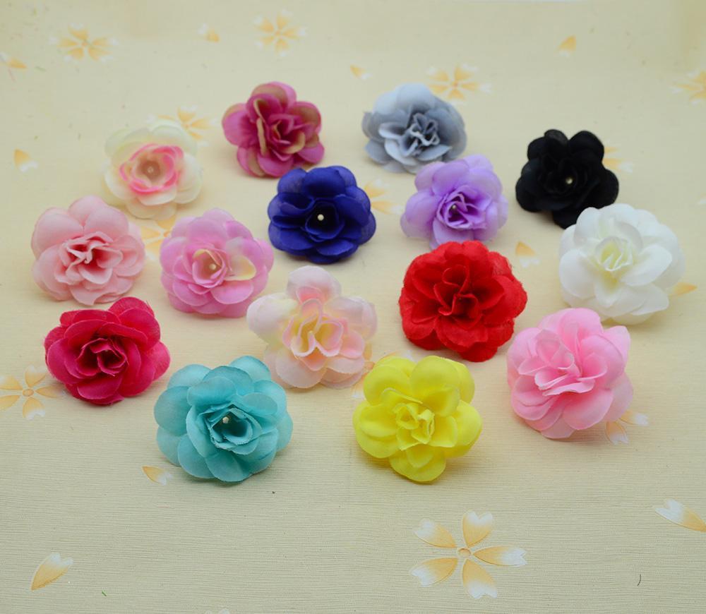 3см 30шта шелковых роз для украшения дома аксессуаров рождественской свадьбы скрапбукинг поддельного пластикового DiY венок подарков искусственных цветы