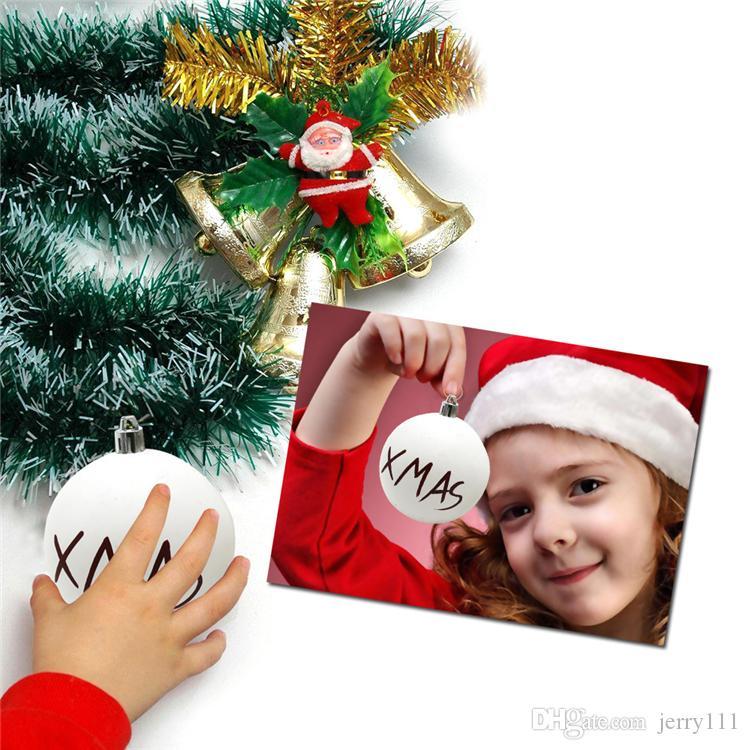 6 stilleri Noel top Baubles Ev Partisi Süsleme Dekor DHL JY440 Asma Noel ağacı süsleri Mat Beyaz Topu Noel Ağacı Malzemeleri