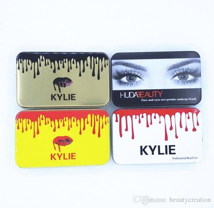 Brand Be@uty 12PCS Face and Eyes of wet Powder brush set and Kylie--Brush foundation powder blush Makeup Brushes High Tech free ship