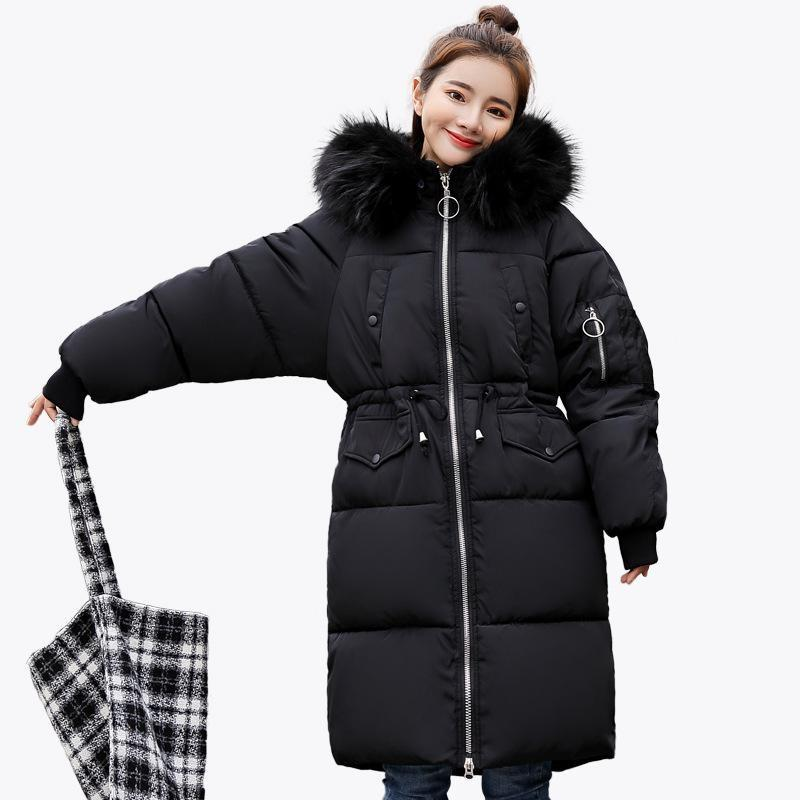 Winter Jacket For Women Made Of Feather The Park's Female Abrigos Mujer Invierno Thick Solid Long Parka Coat Faux Hooded