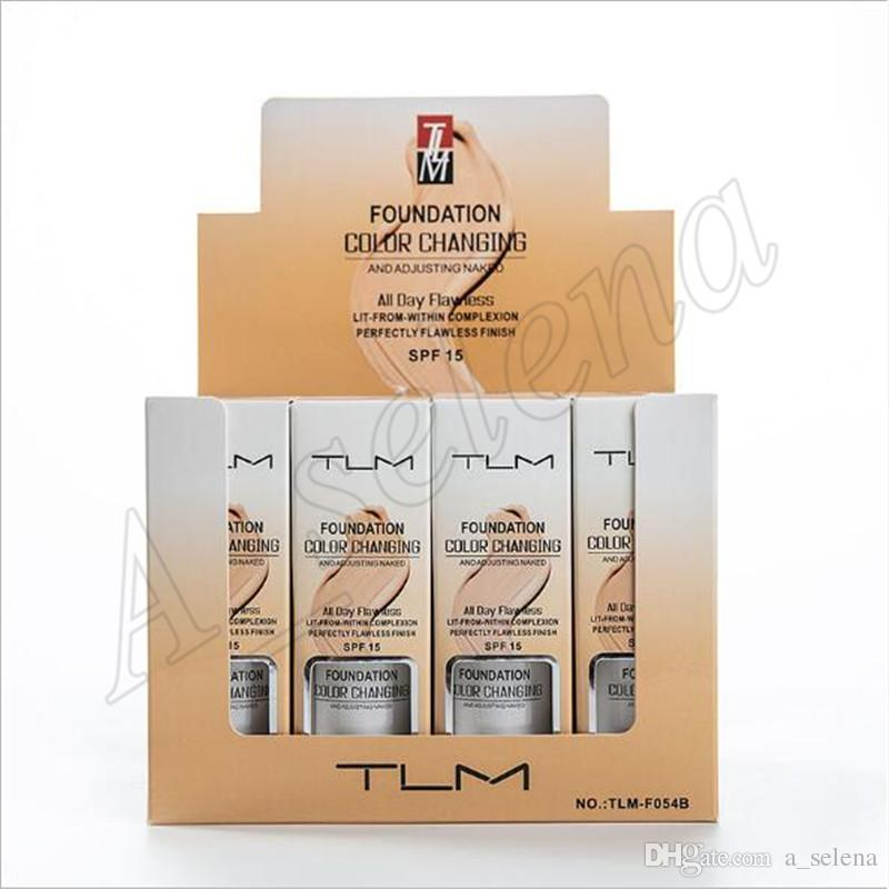 Trucco del fronte di colore TLM fondamento liquido cambia All Day Flawless 30ml Modifica Per il tono della pelle dal taglio di Concealer da ePacket