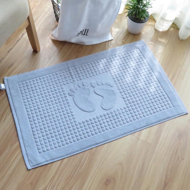 Cotton Footprint Non-slip Bath Hotel Mats Bathroom Carpet Kitchen Doormat Office Chair Floor Mat Foot Pad Dining Table Rugs