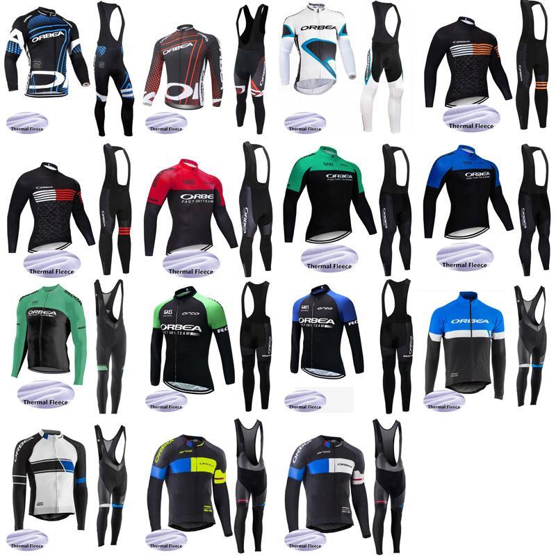 Los nuevos hombres ORBEA equipo de ciclismo 2020 Invierno de polar jersey de bib pantalones largos establece las opciones múltiples conjuntos de bicicleta calientes E61545