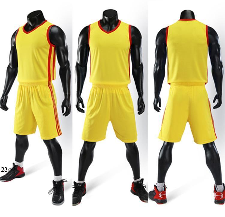 2019 Nouveaux maillots de basket-ball Blank logo imprimé taille Mens S-XXL Prix de pas cher expédition rapide de bonne qualité A006 Yellow Y0012