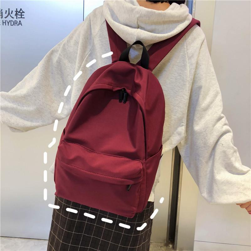 Amazing2019 A Girl Light Woman College Student Ancient Impressive Sendai Concise Campus Edition Back Bag Both Shoulders Package