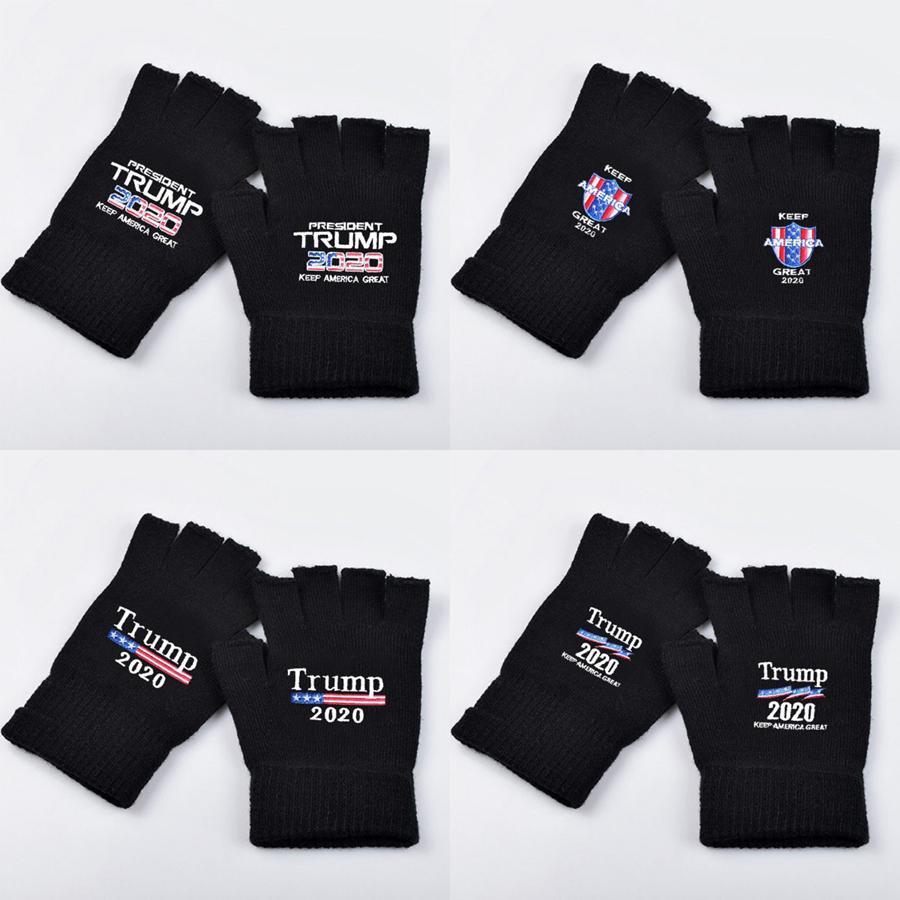 Трамп 2020 перчатки держать Америку большое письмо печатных флаг перчатки Спорт на открытом воздухе зимние теплые варежки 2 шт. / пара LJJO7506