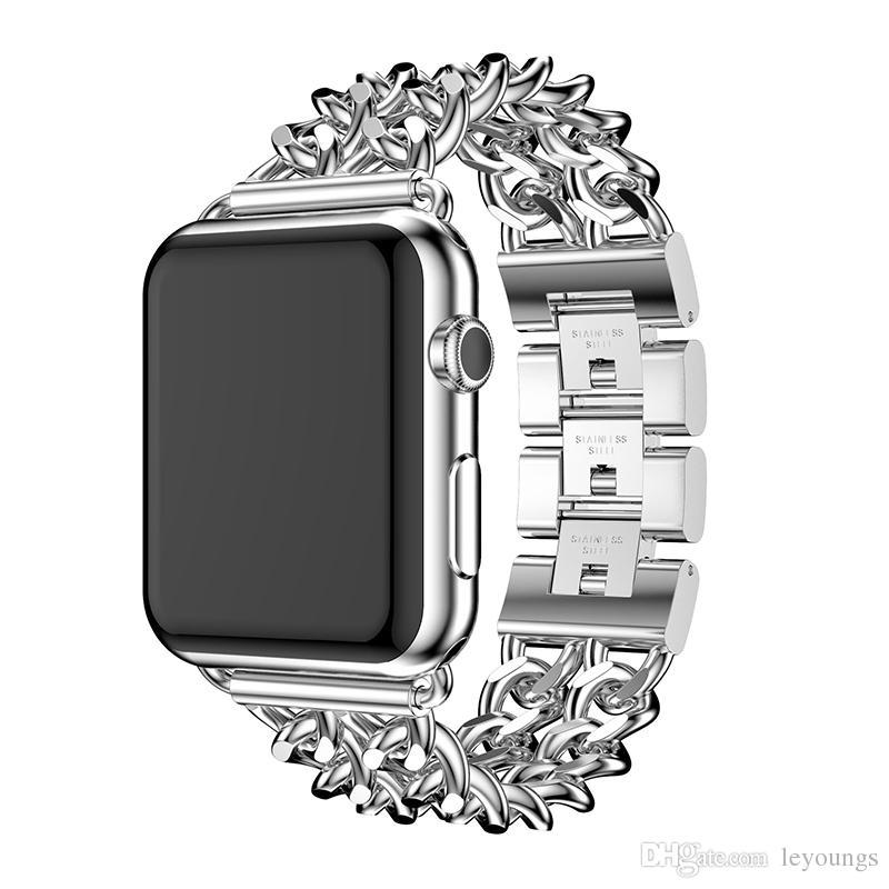 스테인레스 스틸 로프 스타일 손목 시계 Apple Watch 38mm 40mm 42mm 44mm Apple iWatch Series 4 3 2 1 스트랩