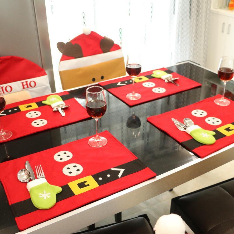 1 шт Держатели серебро Placemats Новогодние украшения Для дома Украшение обеденный стол Декор Новый год Home Decor