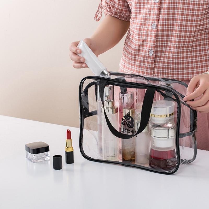 Zip Lock Plastic Bags Transparent Portable PVC Travel Bag Clear Waterproof Cosmetic Makeup Organizer Storage Bag
