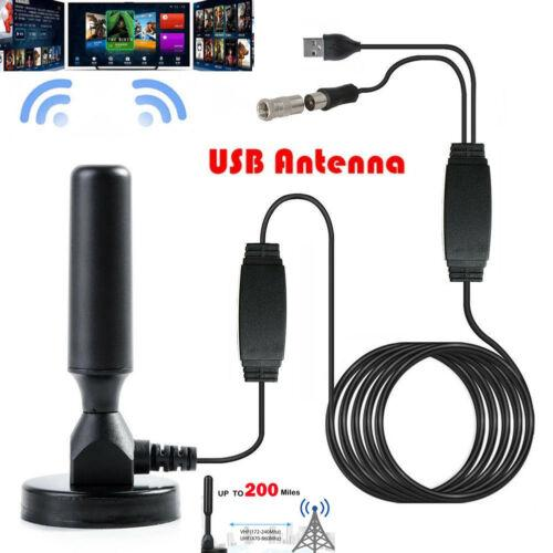 Antenna TV Digital HD 200 Mile Range 4K 1080P 16ft Coax Cable Skywire Indoor