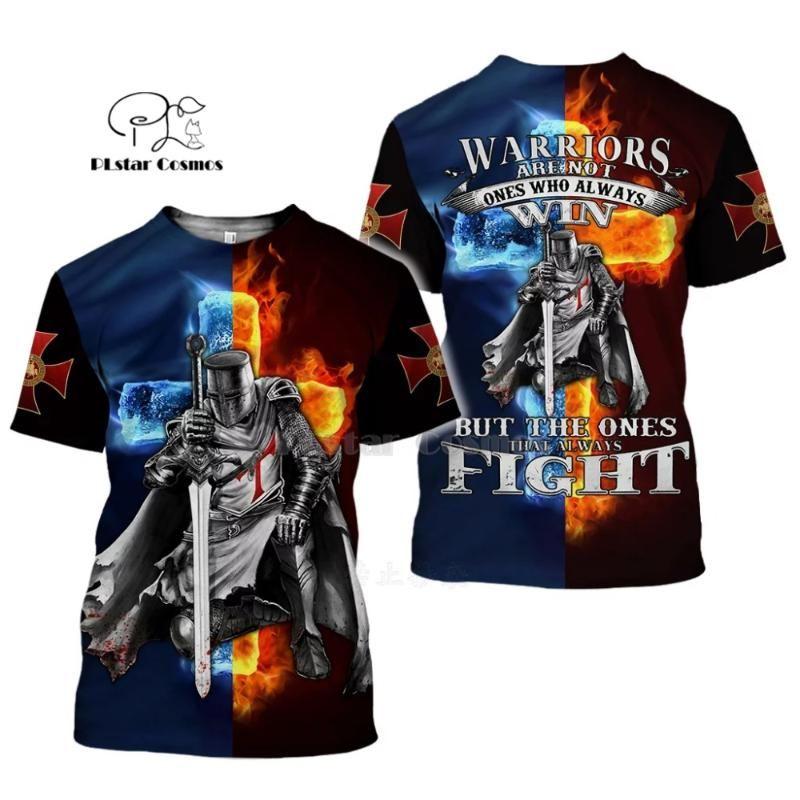 PLstar Cosmos todas partes Impreso Templarios 3d camisetas camiseta del hip-hop camisetas de manga corta de verano streetwear de estilos de tops-2