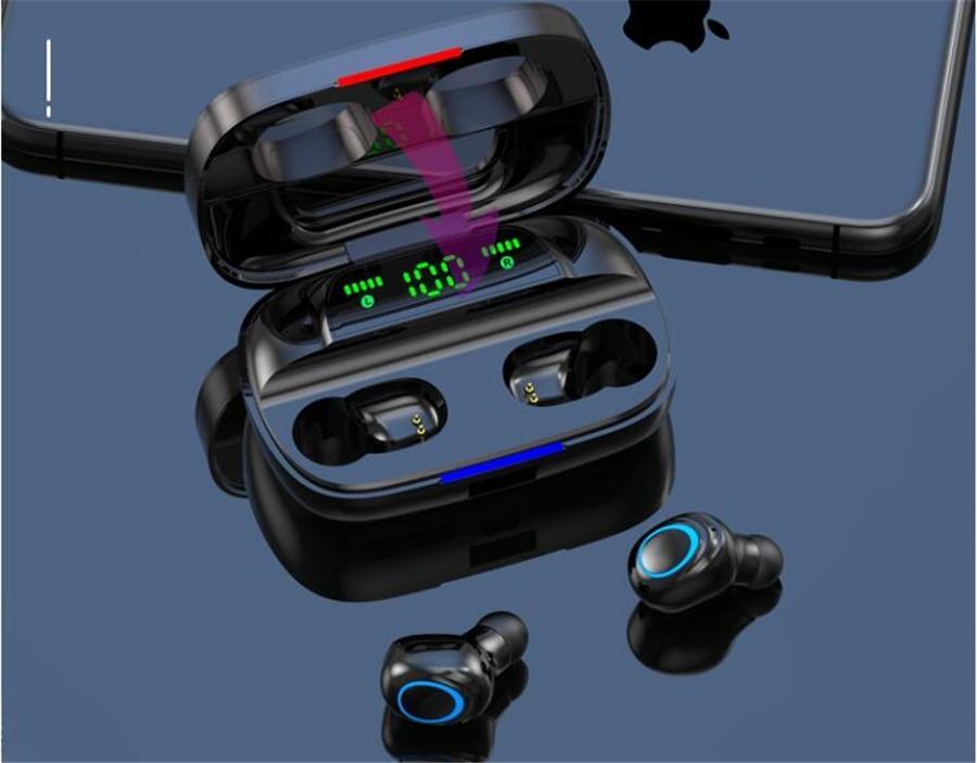 V7 V8 TWS Bluetooth 5.0 Earphones Portable Wireless Headphones TWS In-Ear Earbuds 3D Stereo Sound Sport Headset #OU126