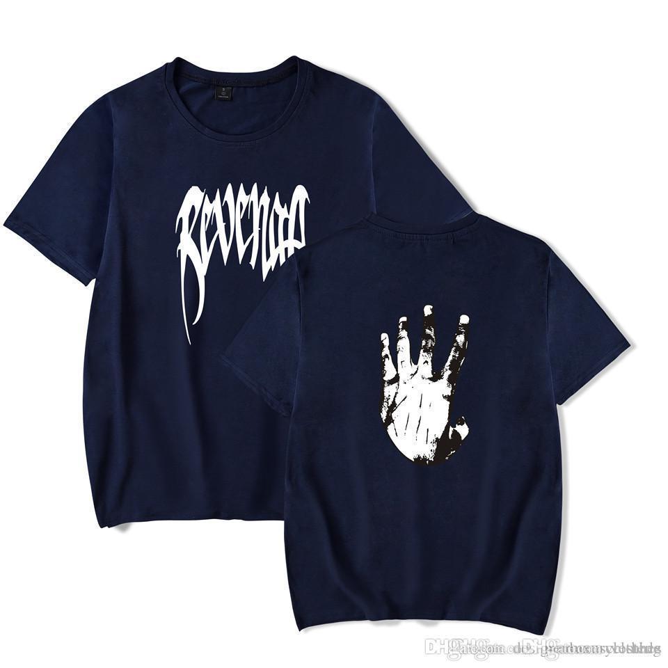 남성면 t- 셔츠 여름 짧은 소매 통기성 보복 손 XXXTENTACION 티셔츠 티