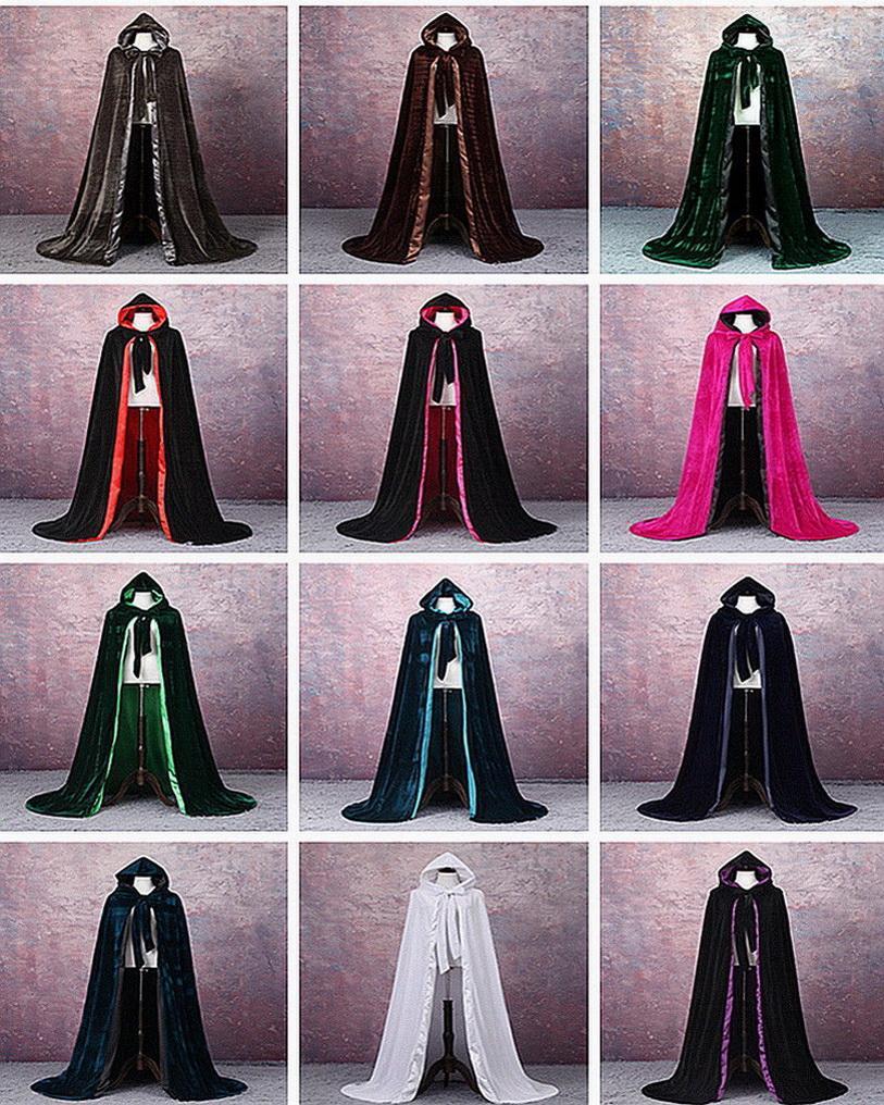 Pageant Wedding Gloak Бархатный плащ Хэллоуин Волшебник Принцесса Карнавальная Карнавальная Партия Рождество Открытый Плащ