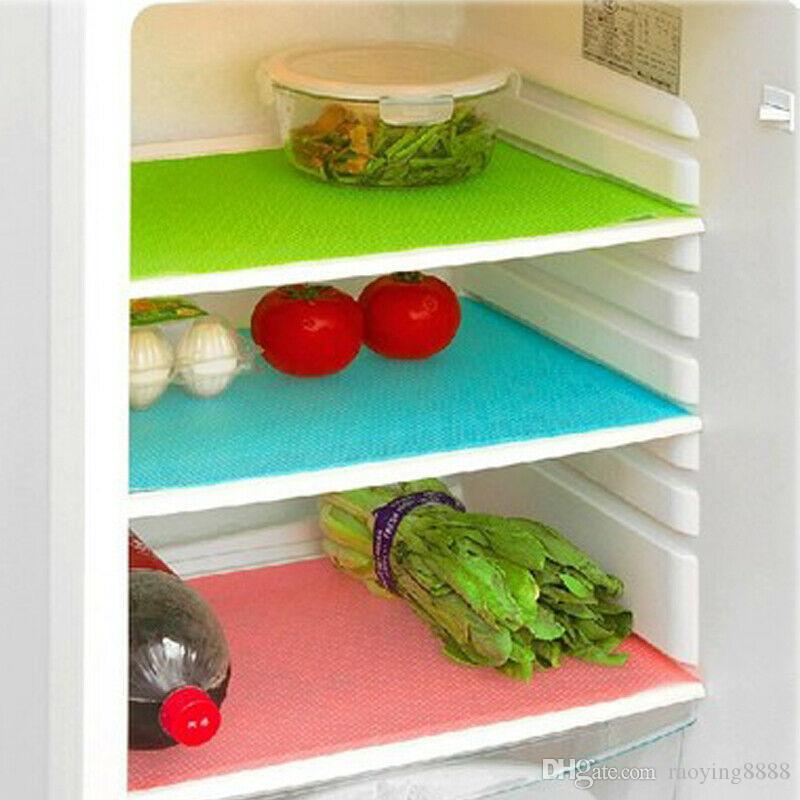 4 PC Réfrigérateur Pad Antibactérien Antifouling Moisissure Humidité Tailorable Plateau Tiroir Doublure Tapis Tapis Réfrigérateur Étanche Pad Tapis