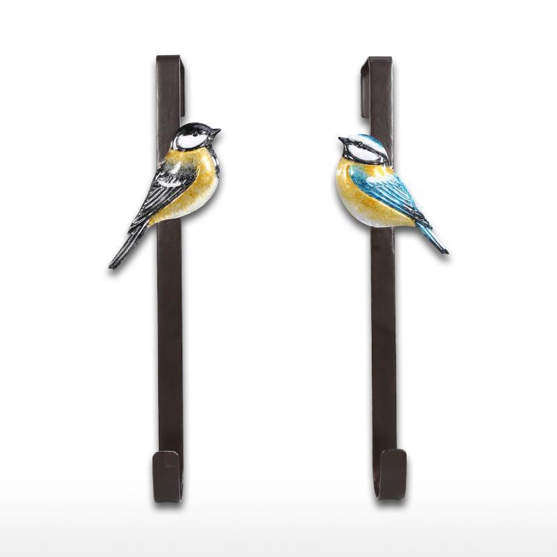 Hot Head bleu oiseaux porte crochet sur le crochet porte Organisateur décoratif cintre en métal Porte-crochets muraux décoratifs pour la clé