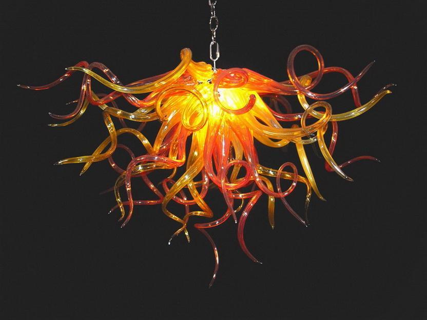 Modern Chandelier Iluminação casamento favorece Blown 100% soprado Borosilicate Início Detalhes no AC110-240V Mão de vidro Lustre