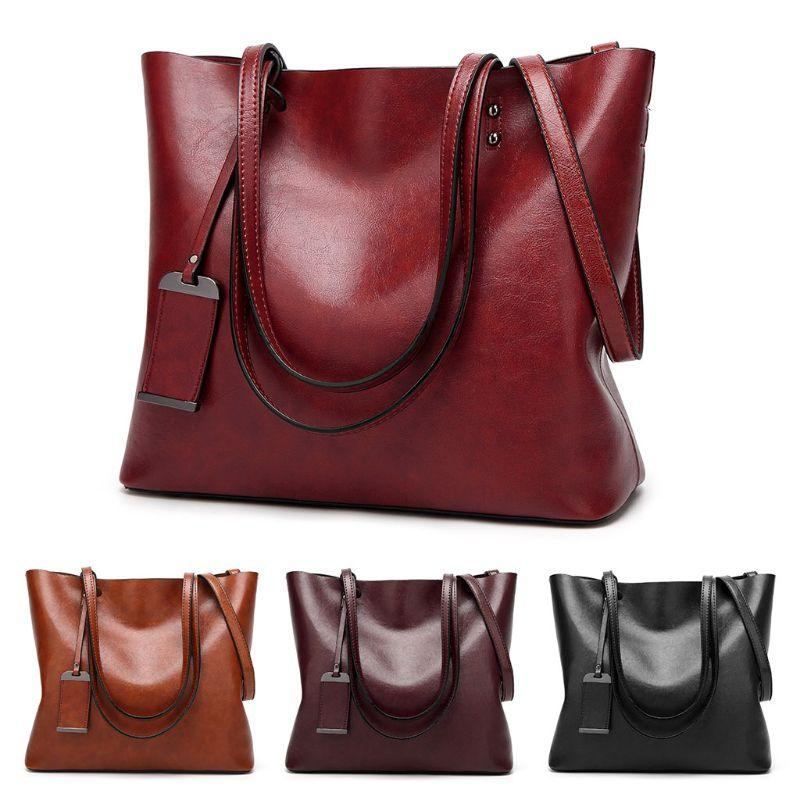 Women Leather Handbag Satchel Crossbody Tote Shoulder Bag Purse Satchel Fashion