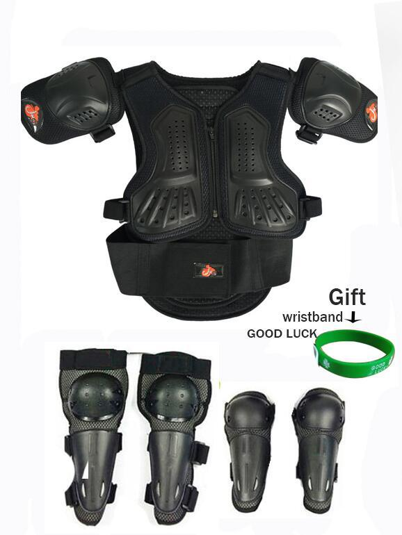 Kids Child Spine Protector Knee Elbow Pads Guard Jacket Motorbike Body Armour
