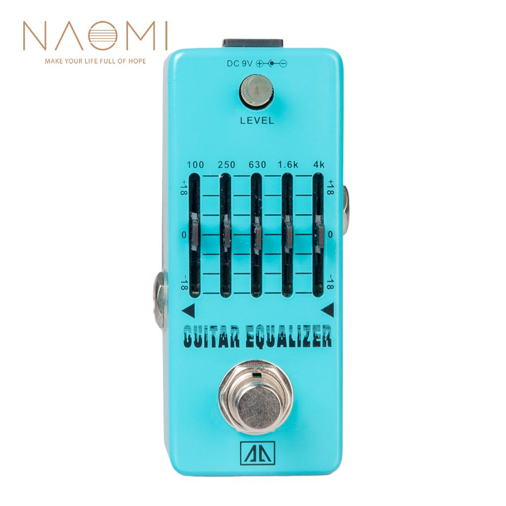 NAOMI Guitar Effect Pedal Aroma AEG-5 5-Band Graphic EQ Equalizer Guitar Effect Pedal True Bypass Guitar Parts & Accessories