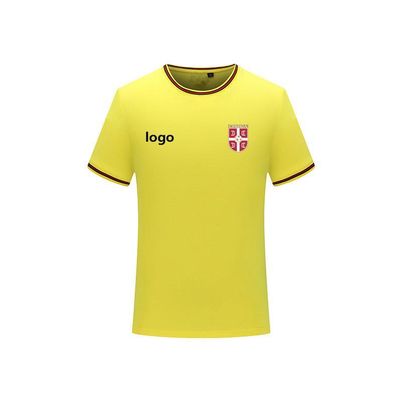 sırbistan 2020 Erkek tişört moda forma kısa kollu tişört erkek spor futbol polo gömlek düz renk pamuklu erkek tişört