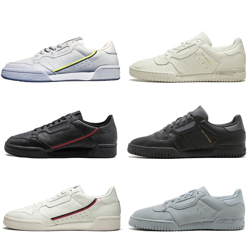 Kanye West Calabasas PowerPhase Grey Continental 80 Scarpe casual Aero blu tripla s donne nere OG bianco Uomini Trainer Sport Sneakers 36-45