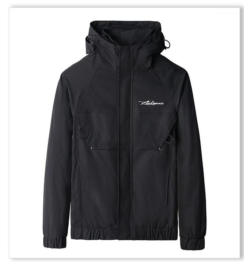 Письмо печати Pure Color Верхней одежда Мужской Стандартная длинный рукав Одежда Мужской мода капюшон Куртка конструктора Zipper