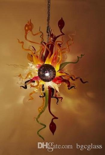 100٪ الزجاج المنفوخ المصرية الحديثة الثريا توفير الطاقة جميلة مناسبات الزفاف بالطلب مسح الزجاج قلادة الإضاءة للديكور المنزل