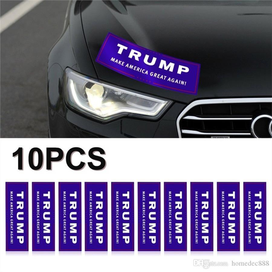 10шт / Set Trump Make America Great снова бампер автомобиля стикер Trump ПЕРЕИЗБРАНИЕ 2020 Бампер наклейка окно автомобиль Наклейка на бампер