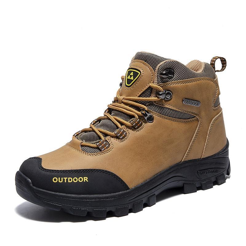 Tantu cuero auténtico al aire libre Senderismo Botas Hombre Caza zapatos impermeables Escalada antideslizante y transpirable de excursión los zapatos