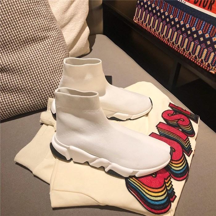 Klasik Çorap Çizmeler, Paris Hız Eğitmenler Rahat Sneakers Hız Trainer Yüksek Kalite Sneakers Yarış Koşucular erkekler için siyah Ayakkabı kadınlar