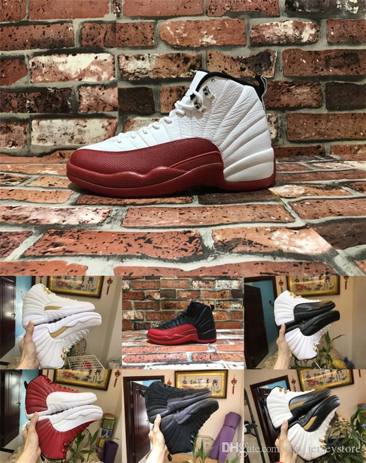 12 12s FIBA CNY WNTR femmes Hommes Chaussures de basket Inversez Taxi Jeu Royal Blue Gym Red Wings hommes gris baskets concepteur sport formateurs
