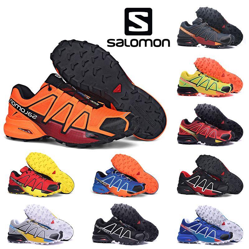 Top Speedcross 4 IV Femmes Hommes imperméables Chaussures de course Solamon extérieur Chaussures de randonnée Rouge Jaune Noir Bleu Puple Volt Sport Sneakers 36-46