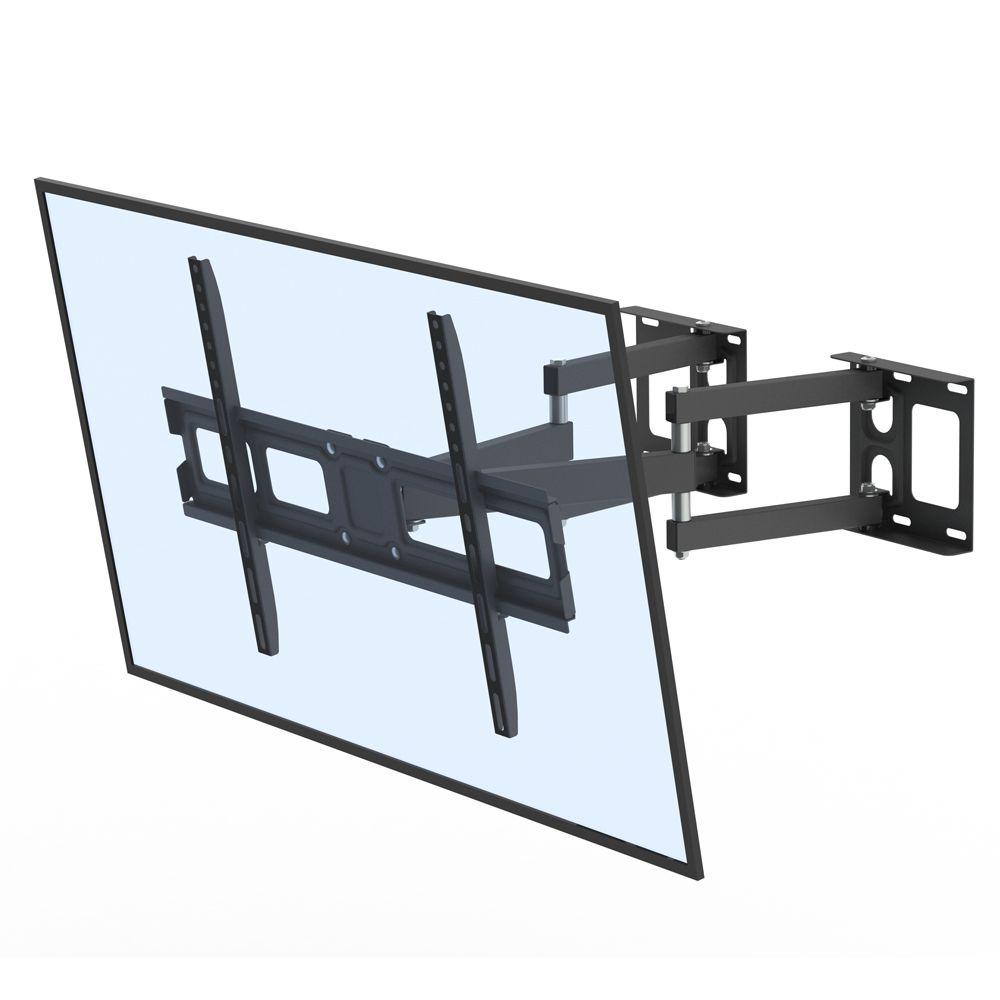 32-70inch Универсальная подставка для телевизора плоский угол регулируемый -10~10Degre VESA 600x400 полное движение артикулируя ТВ настенный кронштейн 50 кг